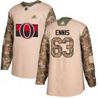 Cheap Adidas Senators #63 Tyler Ennis Camo Authentic 2017 Veterans Day Stitched Youth NHL Jersey
