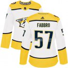 Cheap Adidas Predators #57 Dante Fabbro White Road Authentic Women's Stitched NHL Jersey