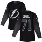 Cheap Adidas Lightning #71 Anthony Cirelli Black Alternate Authentic Stitched NHL Jersey