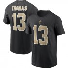Cheap New Orleans Saints #13 Michael Thomas Nike Team Player Name & Number T-Shirt Black