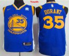 Cheap Youth Golden State Warriors #35 Kevin Durant Royal Blue 2017-2018 Nike Swingman Rakuten Stitched NBA Jersey