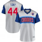 "Cheap Cubs #44 Anthony Rizzo Gray ""Tony"" 2019 Little League Classic Stitched MLB Jersey"