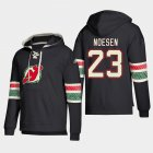 Cheap New Jersey Devils #23 Stefan Noesen Black adidas Lace-Up Pullover Hoodie