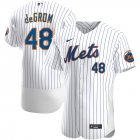 Cheap New York Mets #48 Jacob deGrom Men's Nike White Home 2020 Authentic Player MLB Jersey
