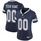 Cheap Nike Dallas Cowboys Customized Navy Blue Team Color Stitched Vapor Untouchable Limited Women's NFL Jersey