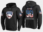 Cheap Panthers #90 Jared Mccann NHL Banner Wave Usa Flag Black Hoodie