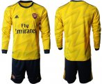 Cheap Arsenal Blank Away Long Sleeves Soccer Club Jersey