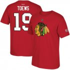 Cheap Chicago Blackhawks #19 Jonathan Toews Reebok Centennial Patch Name & Number T-Shirt Red