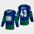 Cheap Vancouver Canucks #43 Quinn Hughes Men's Adidas 2020-21 Authentic Player Alternate Stitched NHL Jersey Blue