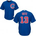 Cheap Cubs #13 David Bote Blue New Cool Base Stitched MLB Jersey