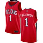Cheap Pelicans #1 Zion Williamson Red Basketball Swingman Statement Edition Jersey