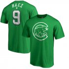 Cheap Chicago Cubs #9 Javier Baez Majestic St. Patrick's Day Stack Player Name & Number T-Shirt Kelly Green