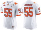 Cheap Men's Clemson Tigers #55 Tyrone Crowder White 2017 Championship Game Patch Stitched CFP Nike Limited Jersey