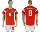 Cheap Russia #8 Glushakov Home Soccer Country Jersey