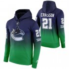 Cheap Vancouver Canucks #21 Loui Eriksson Adidas Reverse Retro Pullover Hoodie Green