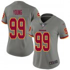 Cheap Nike Redskins #99 Chase Young Gray Women's Stitched NFL Limited Inverted Legend Jersey