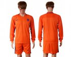 Cheap Holland Blank Home Long Sleeves Soccer Country Jersey