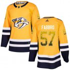 Cheap Adidas Predators #57 Dante Fabbro Yellow Home Authentic Drift Fashion Stitched NHL Jersey
