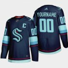 Cheap Seattle Kraken Custom Men's Adidas 2021-22 Navy Home Authentic Stitched NHL Jersey