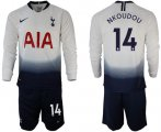 Cheap Tottenham Hotspur #14 Nkoudou Home Long Sleeves Soccer Club Jersey
