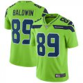 Cheap Nike Seahawks #89 Doug Baldwin Green Men's Stitched NFL Limited Rush Jersey