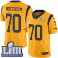 Cheap Nike Rams #70 Joseph Noteboom Gold Super Bowl LIII Bound Men's Stitched NFL Limited Rush Jersey