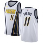 Cheap Nike Pacers #11 Domantas Sabonis White NBA Swingman Earned Edition Jersey