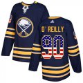 Cheap Adidas Sabres #90 Ryan O'Reilly Navy Blue Home Authentic USA Flag Youth Stitched NHL Jersey