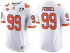 Cheap Men's Clemson Tigers #99 Clelin Ferrell White 2017 Championship Game Patch Stitched CFP Nike Limited Jersey