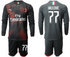 Cheap AC Milan #77 Halilovic Third Long Sleeves Soccer Club Jersey