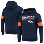 Cheap Denver Broncos Nike Sideline Team Logo Performance Pullover Hoodie Navy