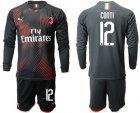 Cheap AC Milan #12 Conti Third Long Sleeves Soccer Club Jersey