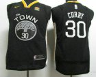 Cheap Youth Golden State Warriors #30 Stephen Curry Black 2017-2018 Nike Authentic Rakuten Stitched NBA Jersey