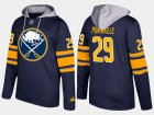 Cheap Sabres #29 Jason Pominville Blue Name And Number Hoodie