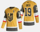 Cheap Men's Vegas Golden Knights #19 Reilly Smith Gold 2020-21 Alternate Stitched Adidas Jersey