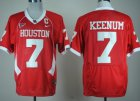 Cheap Houston Cougars #7 Case Keenum Red C-USA Patch Jersey