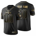 Cheap New England Patriots Custom Men's Nike Black Golden Limited NFL 100 Jersey