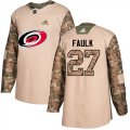 Cheap Adidas Hurricanes #27 Justin Faulk Camo Authentic 2017 Veterans Day Stitched NHL Jersey