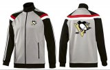 Cheap NHL Pittsburgh Penguins Zip Jackets Grey