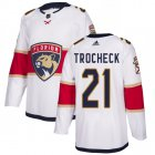 Cheap Adidas Panthers #21 Vincent Trocheck White Road Authentic Stitched Youth NHL Jersey