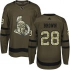 Cheap Adidas Senators #28 Connor Brown Green Salute to Service Stitched NHL Jersey