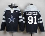 Cheap Nike Cowboys #91 L. P. Ladouceur Navy Blue Player Pullover NFL Hoodie