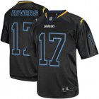 Cheap Nike Chargers #17 Philip Rivers Lights Out Black Men's Stitched NFL Elite Jersey