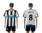 Cheap Newcastle #8 Anita Home Soccer Club Jersey