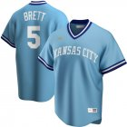 Cheap Kansas City Royals #5 George Brett Nike Road Cooperstown Collection Player MLB Jersey Light Blue