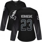 Cheap Adidas Lightning #23 Carter Verhaeghe Black Alternate Authentic Women's Stitched NHL Jersey