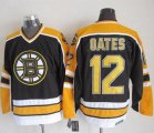 Cheap Bruins #12 Adam Oates Black CCM Throwback New Stitched NHL Jersey