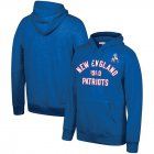Cheap New England Patriots Mitchell & Ness Team History Pullover Hoodie Blue