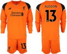 Cheap Liverpool #13 Alisson Orange Goalkeeper Long Sleeves Soccer Club Jersey
