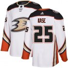 Cheap Adidas Ducks #25 Ondrej Kase White Road Authentic Youth Stitched NHL Jersey